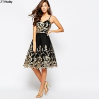 New Arrival Lace Embroidery Spaghetti Strap Backless Ball Gown Vestido De Festa Sexy Party Dress Slim