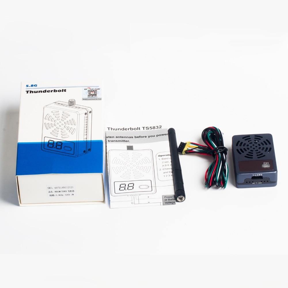 Boscam Original Thunderbolt TS5832 5.8G 32CH 2000mW AV Wireless FPV Sender Transmitter F17954 for Drone Quadcopter drone boscam 5 8g 2w fpv wireless av transmitter