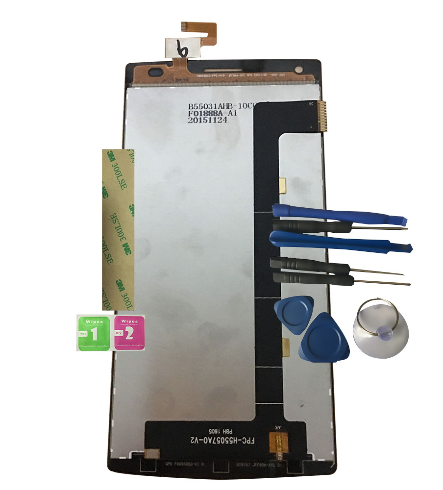 LCD Display For FPC-H55057A0-V2 With Touch Screen F6055053-FPC-V1.0 Digitizer Assembly Replacement With Tools+3M StickerLCD Display For FPC-H55057A0-V2 With Touch Screen F6055053-FPC-V1.0 Digitizer Assembly Replacement With Tools+3M Sticker
