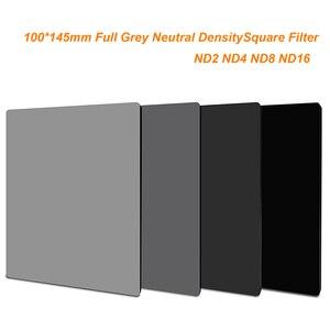 Image 1 - 145x100mm ND2 ND4 ND8 ND16 מלא אפור ניטראלי צפיפות 100*145mm מלא גריי כיכר מסנן עבור לי Cokin Z סדרה
