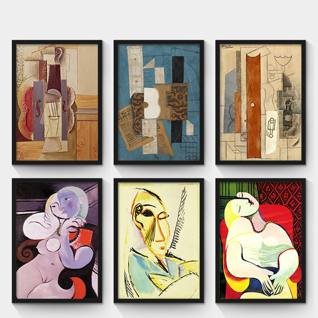 Oubei Art Retro Home Decor Picasso Watercolor Oil Pianting Abstract ...