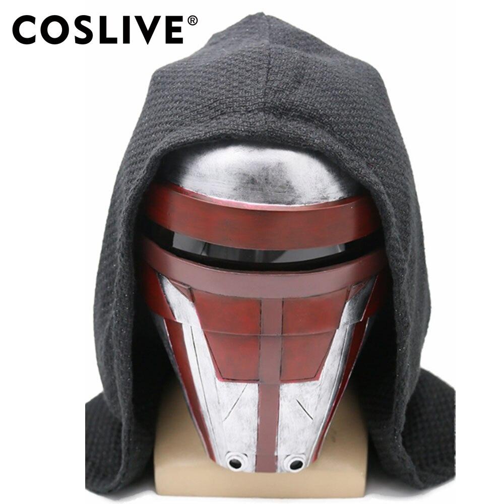 Coslive star wars Darth Revan Masque La Moitié Du Visage Casque COSplay Super-Héros Accessoires Réplique déguisement d'halloween Prop Pour Hommes