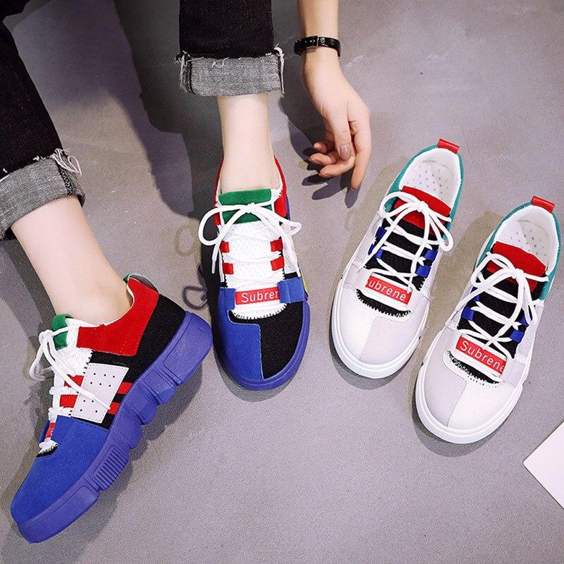 Viejos Neto Verano Mujeres Nueva Pequeños Coreana Versión Zapatos De blanco Azul Ins Femenino Blancos Salvaje Transpirable Zapato Ocio Motion La Rojo wZrwTqv6B