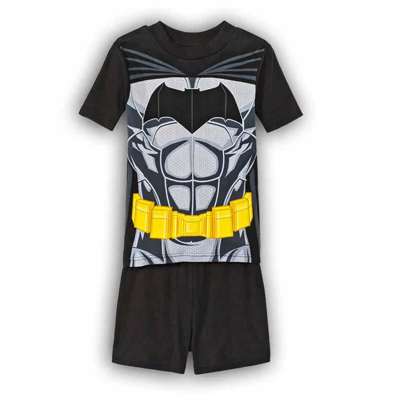 ... 2017 летние пижамы для мальчиков пижамы с короткими рукавами брюки  спортивный костюм с Бэтменом Человек- ... 8805e02c7733e