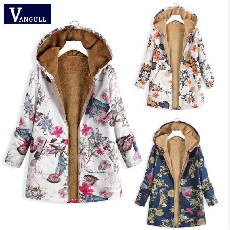 Повседневная зимняя женская одежда больших размеров 5XL, женские плюшевые пальто с принтом, толстые теплые длинные женские свободные парки на молнии с капюшоном