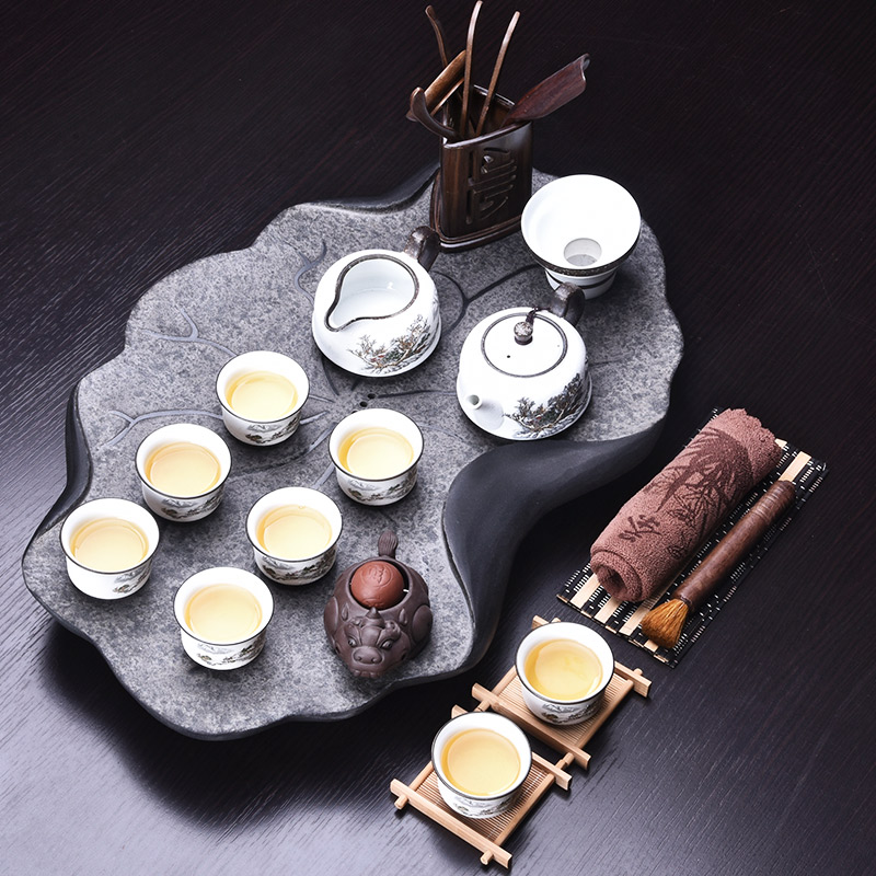 Handpainted Ceramic Gong Fu Tea Set