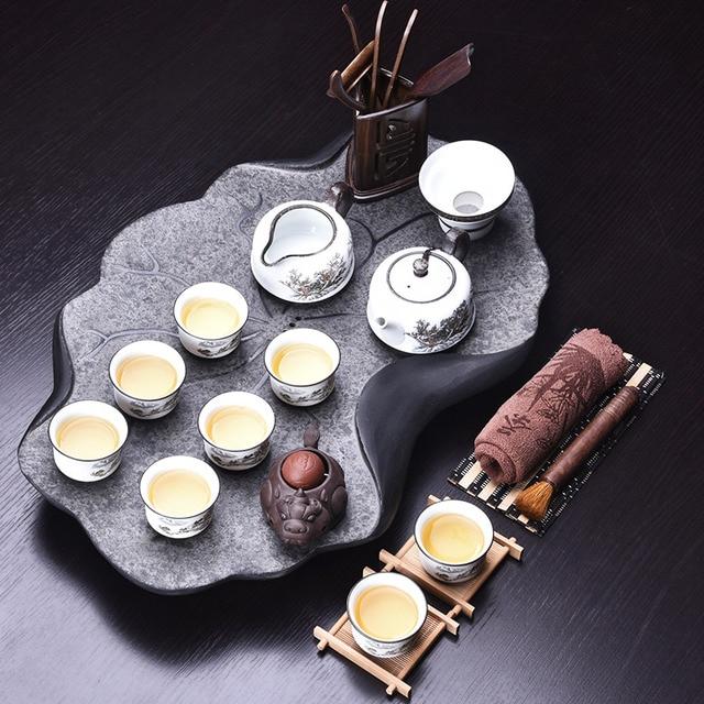 Handpainted Ceramic Gong Fu Tea Set