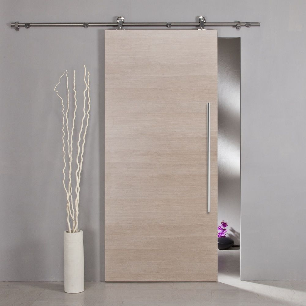 Compare prices on install sliding door online shoppingbuy low 150cm 183cm 200cm easy install top mount barn door hardware stainless steel sliding barn vtopaller Gallery