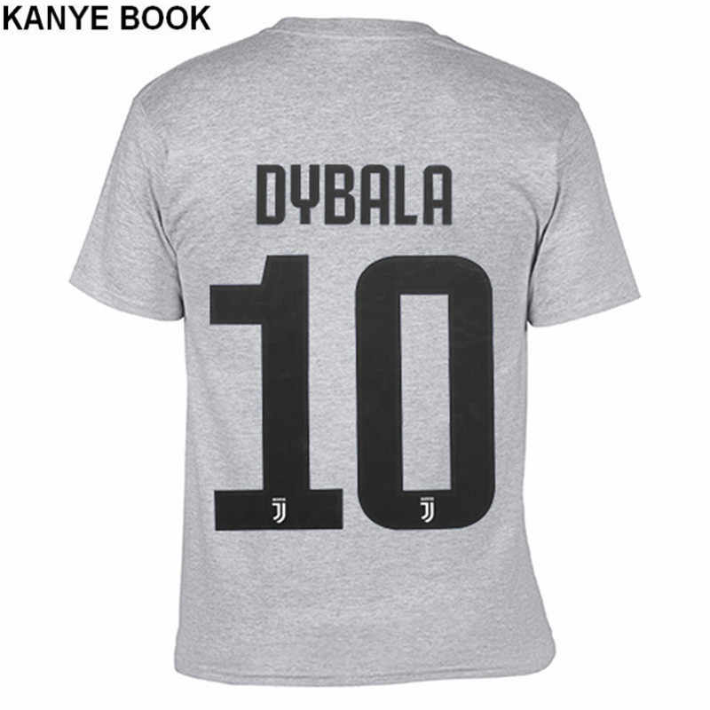 info for 2cc81 07445 Summer 2018 New Tee Shirt Homme Printed DYBALA T-Shirt Men Short Sleeve  100% Cotton O-neck T shirts Men 10 Juventus Jerseys