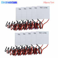 10 unids/lote TEC1-12706 TEC1 12706 12V 6A TEC refrigerador termoeléctrico Peltier (TEC1-12706) 40*40MM 12V Peltier Elemente módulo