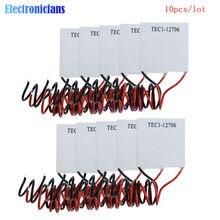 10 pçs/lote TEC1-12706 TEC1 12706 12V 6A TEC Thermoelectric Cooler Peltier (TEC1-12706) 40*40MM 12V Módulo Peltier Elemente