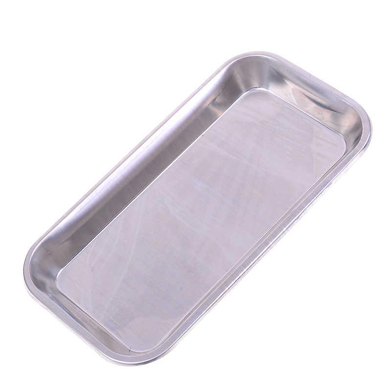 1 قطع مفيدة شعبية صينية الفولاذ المقاوم للصدأ الطبية الجراحية الأسنان طبق مختبر أداة أدوات تخزين البيئة مريحة