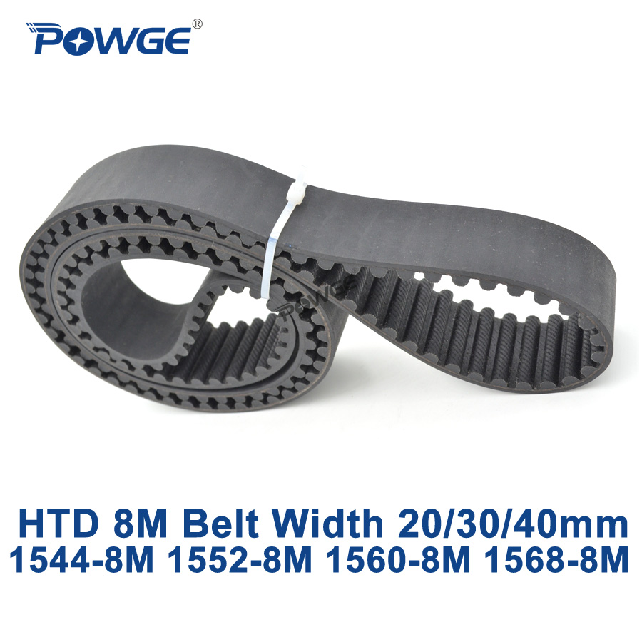 POWGE HTD 8M synchronous Timing belt C=1544/1552/1560/1568 width 20/30/40mm Teeth 193 194 195 196 HTD8M 1552-8M 1560-8M 1568-8M powge htd 8m synchronous belt c 520 528 536 544 552 width 20 30 40mm teeth 65 66 67 68 69 htd8m timing belt 520 8m 536 8m 552 8m