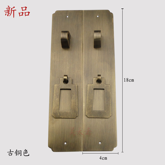 [Haotian vegetarian] antique handle large wardrobe / cupboard door handle / bookcase copper handle HTC-227 [haotian vegetarian] antique furniture wardrobe handle door handle copper pull hands htc 220