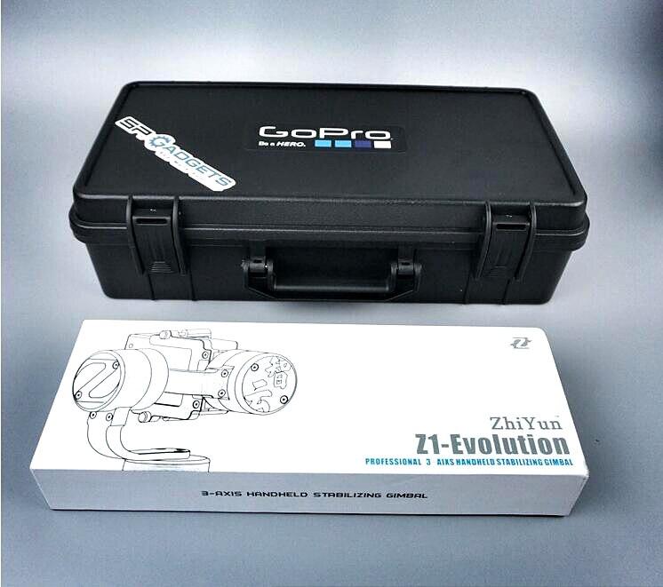 ФОТО Zhiyun z1-evo Feiyu stabilizer package incorporating safety box gopro custom storage box