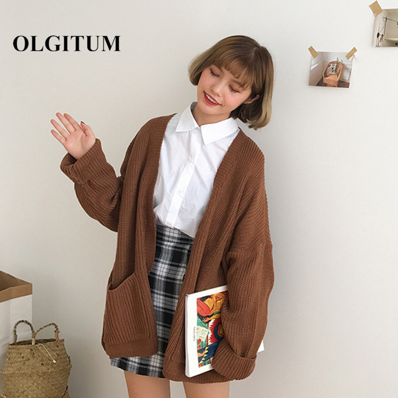 Modern Korean Winter Fashion: 2018 Autumn Winter Cardigan Coat Korean Fashion Sweet Girl