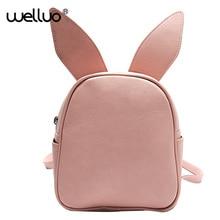 Женщины рюкзак крыло летучей мыши Кролик Кот уха Рюкзаки сладкий Новые школьная сумка для девочек рюкзак Симпатичные искусственная кожа Упаковка Mujer XA14B