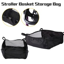 New Style Baby Stroller Basket Organizer Storage Bag Portable Pram Newborn Baby Care Stroller Basket Infant Stroller Accessories