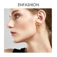 Enfashion Initial Letter Earrings Capitals Stud Earring Gold color Single Earings Stainless Steel Earrings for Women Jewelry enfashion double cirlce line earrings gold color earings stainless steel stud earrings for women fashion jewelry oorbellen