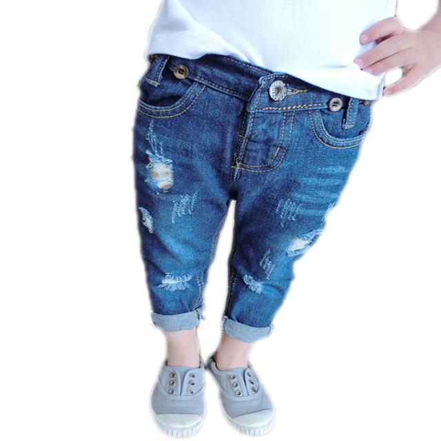 Niños Vaqueros Otoño del Resorte 2016 Bebé Girls   Boys de La Manera  Pantalones Ropa de 8110bf0f7df