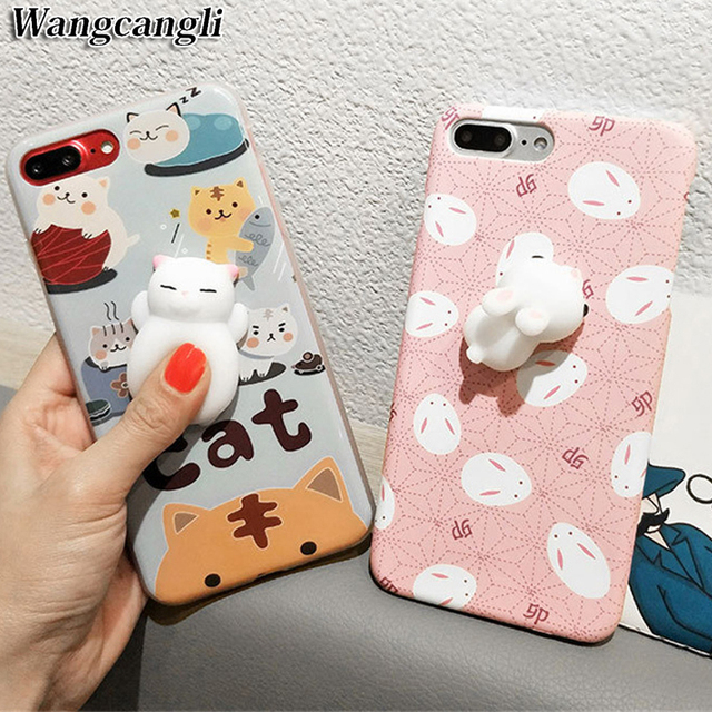 best sneakers 9f956 6a7d9 US $2.45 |3d cute soft silicone squishy cat phone case for iPhone 6 6s plus  7 7plus 3d squishy phone case kawaii silicone sea lions-in Fitted Cases ...