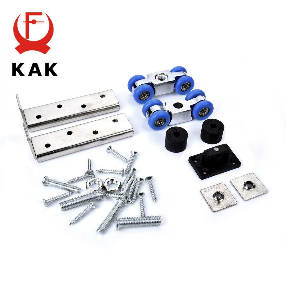 KAK Aluminum Alloy Sliding Door Rollers 50KG Bedroom Wood Door Hanging Wheels Meeting Room Wardrobe Door Roller Furniture Wheels