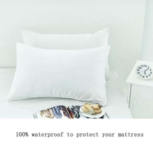 2pcs Waterproof and Anti-mite White Knitted Cloth Pillowcase for Home Hotel Room Good Quality Sleep