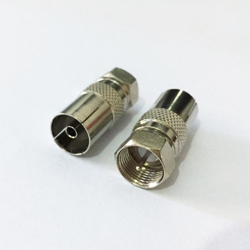 10pcs F male plug to IEC PAL DVB-T TV female jack RF adapter connector British size for Cable TV c18 iec to mcx antenna pigtail cable adapter connector for usb tv dvb t tuner new