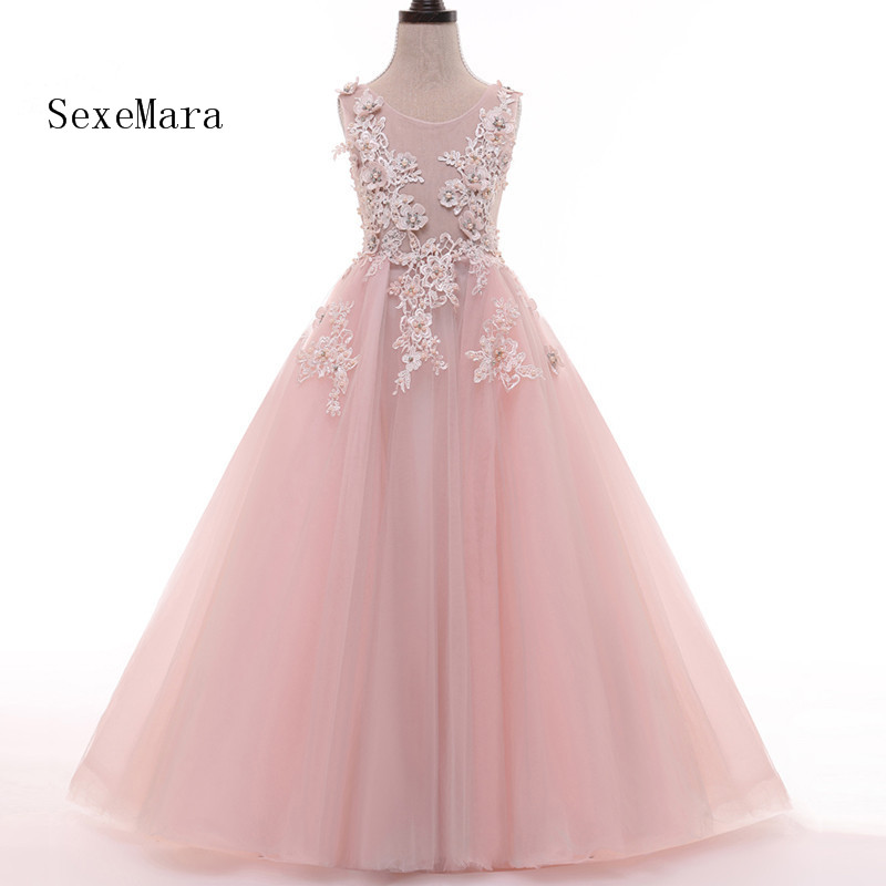 Pink Actual Picture Flower Girl Dresses for Wedding Party vestido daminha Alibaba Children Birthday Dress Pageant Girl Dresses  Pink Actual Picture Flower Girl Dresses for Wedding Party vestido daminha Alibaba Children Birthday Dress Pageant Girl Dresses