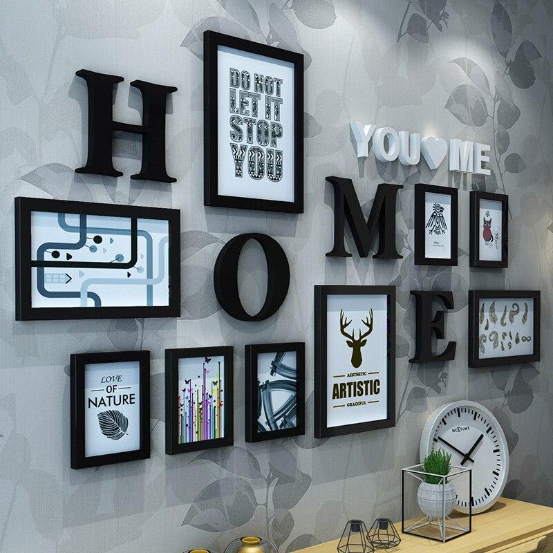 9 teile/satz Holz Foto Rahmen Bild Rahmen Für Wohnzimmer Buchstaben ...
