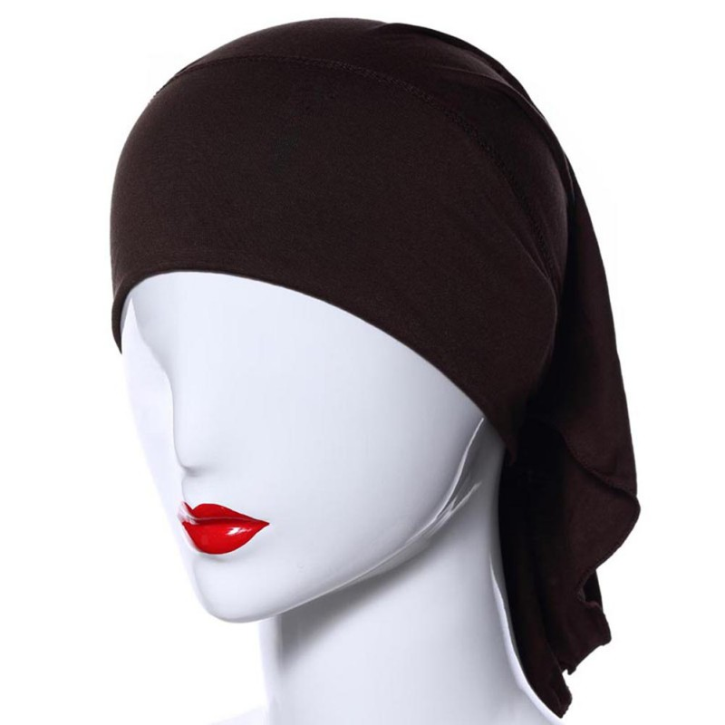 Detail Feedback Questions about 1 Pc Muslim Bland On Top Women Soft  Comfortable Blindfold Inner Hijab Caps Islamic Underscarf Hats Bandana on  Aliexpress.com ...