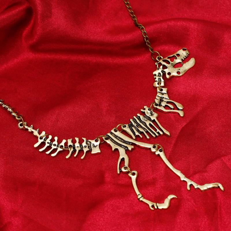 Gothic Choker Necklace Bone Choker Necklace Bronze Bone Choker