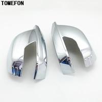 TOMEFON For Honda Crosstour 2010 2016 Side Door Rear View Mirror Cap Cover Trim ABS Chrome 2pcs