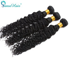 Panse Hair Peruvian Deep Curly Hair Weaving 100% Human Hair Extension 3 Bundles Per Lot 100 g Color 1B Hair Bundles Non remy(China)