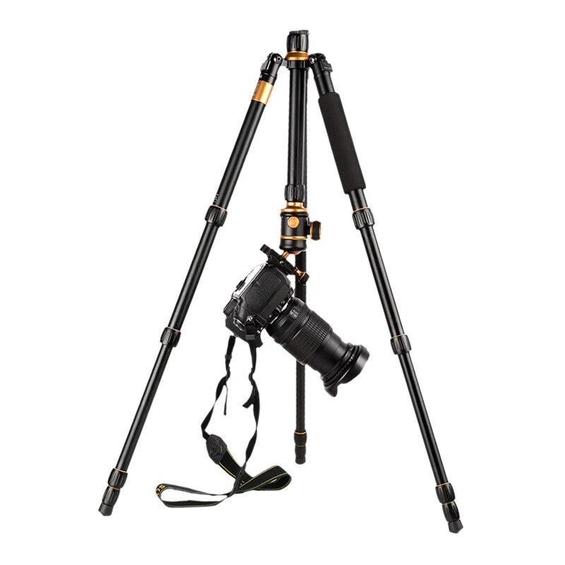 Q888 digital 1520 millimetri macchina fotografica del telescopio treppiede portatile 360 millimetri piegato alluminio video della macchina fotografica del basamento per videocamera digitale & DSLR monopiede foto - 4