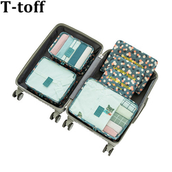 Nylon Packing Cube Travel Bag men women luggage 6 Pieces Set Large Capacity Bags Unisex Clothing travel bag organizer