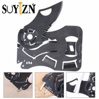 Utility Knife Steel Camping Pocket Credit Card Knife Outdoor Folding Blade Survival Multi Tool ZK282