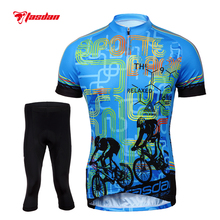 Tasdan Cycling Clothing Wear Cycling Sportswear Racing Bike Clothes Mens Cycling Jersey Pants Suit Set(China)