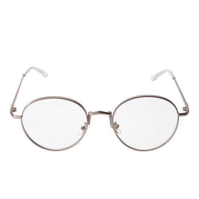 c67d8d9e15 Men women Round Sunglasses Retro Metal Frame Eyeglasses Korean Clear Lens Glasses  Male Female Optical