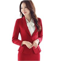 Ladies Black Blazer Feminino Plus Size 3XL Formal Jacket Women S White Blaser 2017 Female Blue