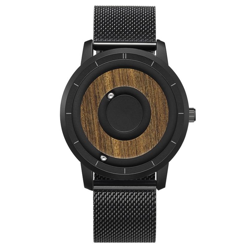 EUTOUR  Magnet Watches 2019 men watch women watches fashion Casual Quartz Watch Simple Men Minimalist Wooden dial 10