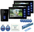 "Freeship by DHL 7"" Door Intercom Phone Video Doorbell System Home Apartment Entry Kit Unlocking Dual-way Video Intercom"
