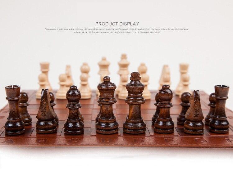 Conjunto de Peças De Xadrez de Madeira