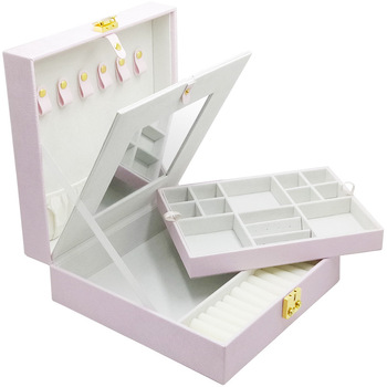 Caixa Organizadora Promotion Real Porte Bijoux 2019 Pu Briefly Accepts Jewelry Box, Home Earrings, Necklaces, Box Gifts Boxes