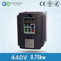 New 440vAC 0.75kw VFD Variable Frequency Drive VFD Inverter 440v 3 phase Input 3 phase Output 440V 2.5A 750W Frequency inverter