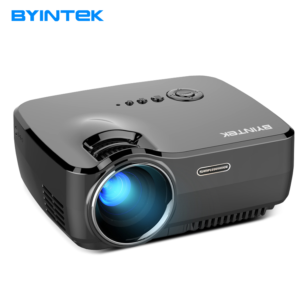 BYINTEK cielo marca GP70 portátil Mini LED Cinema vídeo Digital HD Proyector del teatro casero Beamer Proyector con USB HDMI