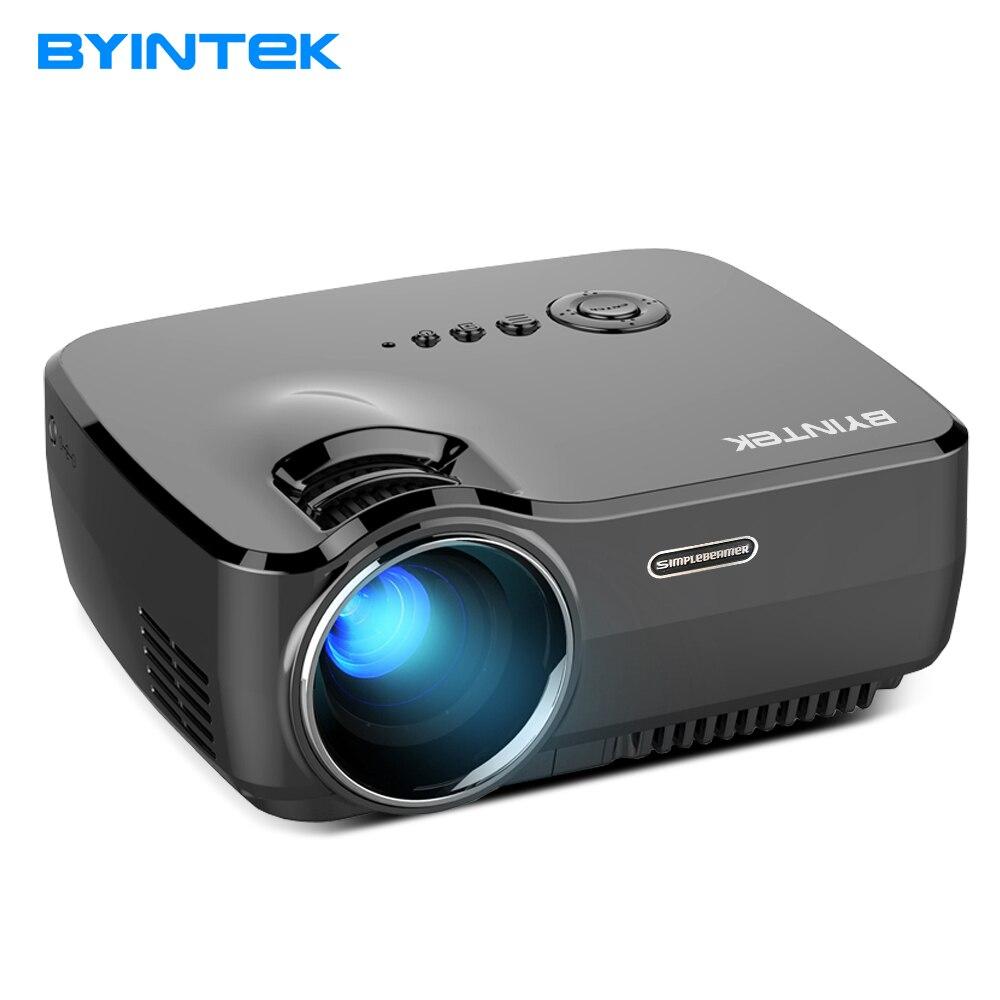 Projecteur BYINTEK CIEL GP70 2018 Le Plus Chaud Portable Led Projecteur HD Pico USB HDMI LCD cinéma LED Mini Vidéo Numérique Maison théâtre