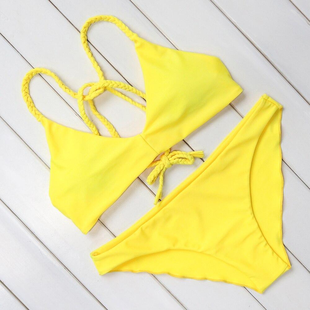 RUUHEE Bikini 2017 Hot Sexy Swimsuit Women Swimwear Bathing Suit Push Up Brazilian Bikini Set Printed