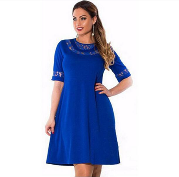 <font><b>Plus</b></font> <font><b>Size</b></font> <font><b>Dresses</b></font> For <font><b>Women</b></font> 4XL <font><b>5XL</b></font> <font><b>6XL</b></font> Summer <font><b>Dress</b></font> <font><b>Sexy</b></font> O Neck Short Sleeve A Line Casual Party <font><b>Dresses</b></font> <font><b>Women</b></font> <font><b>Clothing</b></font> Vestido image