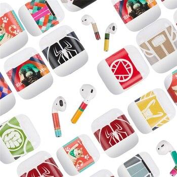 Защитная виниловая наклейка для Apple Airpods чехол стикер на полную длину для Air Pods наушники с мультяшным декором клейкий чехол